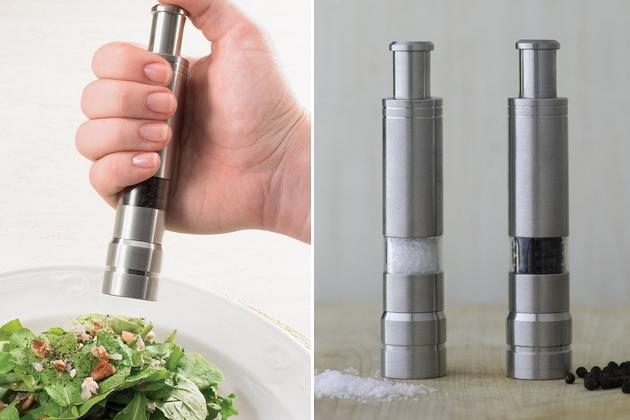 One-Handed Salt and Pepper Grinders