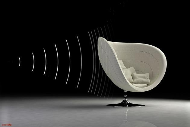 Rosa – Poltrona with Acoustics