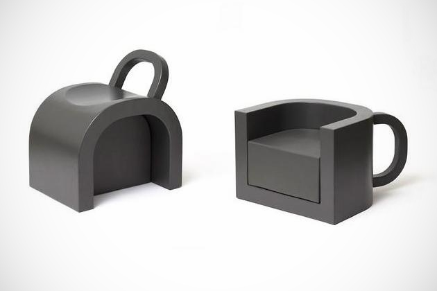 Flip-coffeecup Chair / Table