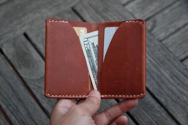 Handmade Ultra Slim Leather Wallet (2)