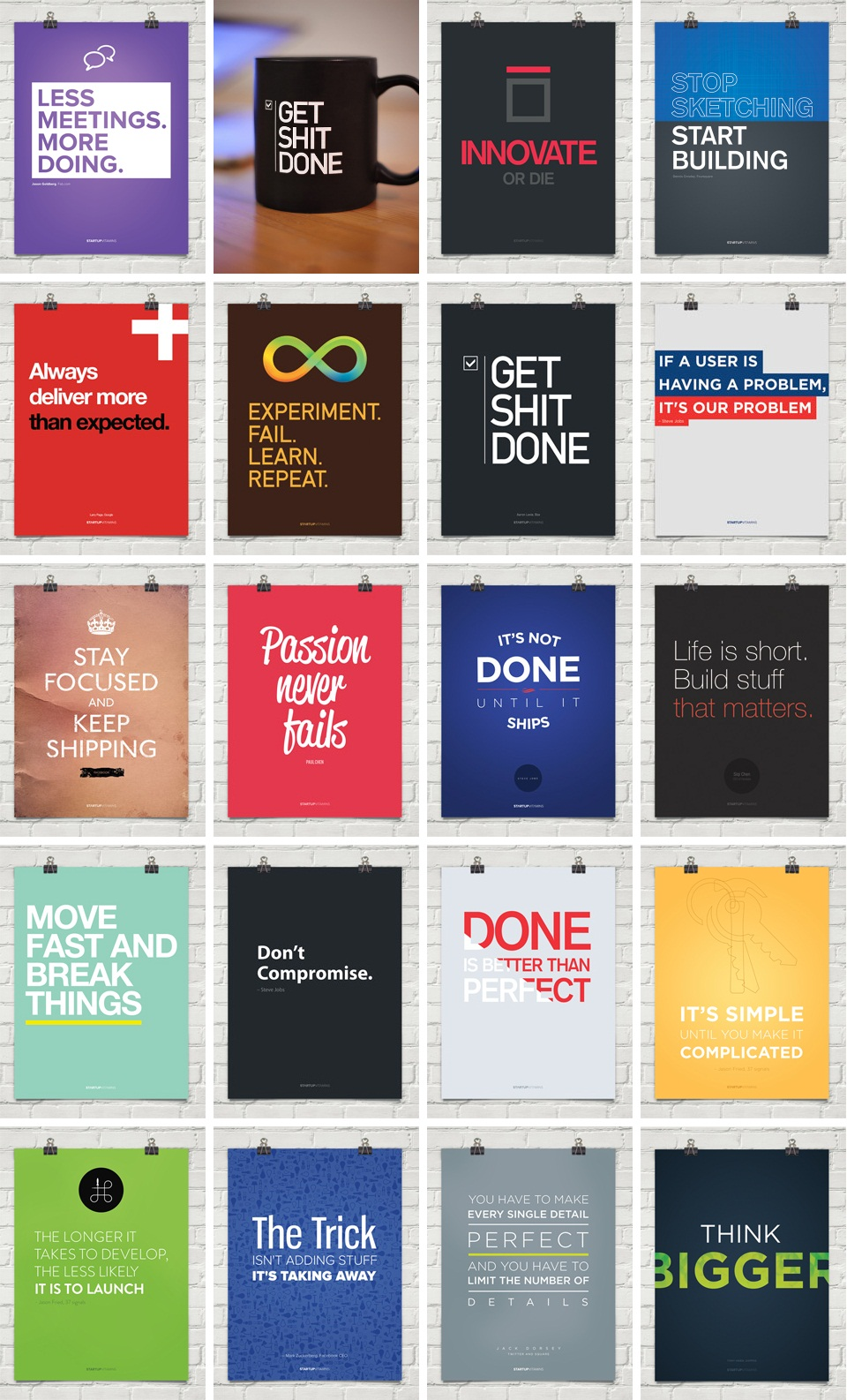 Motivating posters for your startup - Startup Vitamins