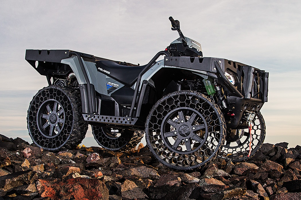 Polaris ATV Airless Tires Machine Hits The Road (3)