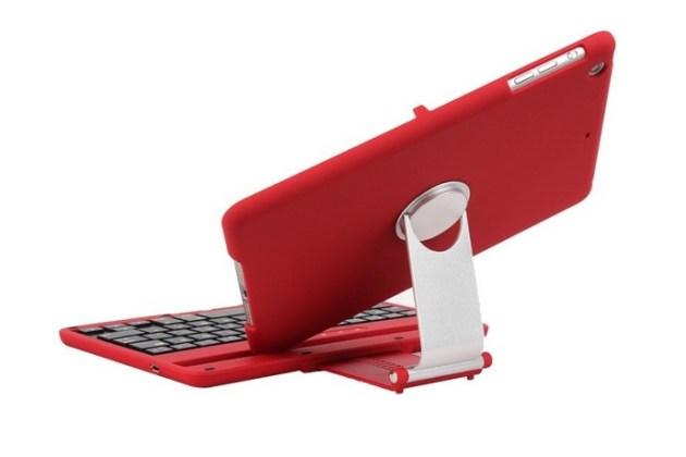 Aluminum 360 Swivel Rotating Stand Case Bluetooth Keyboard (1)