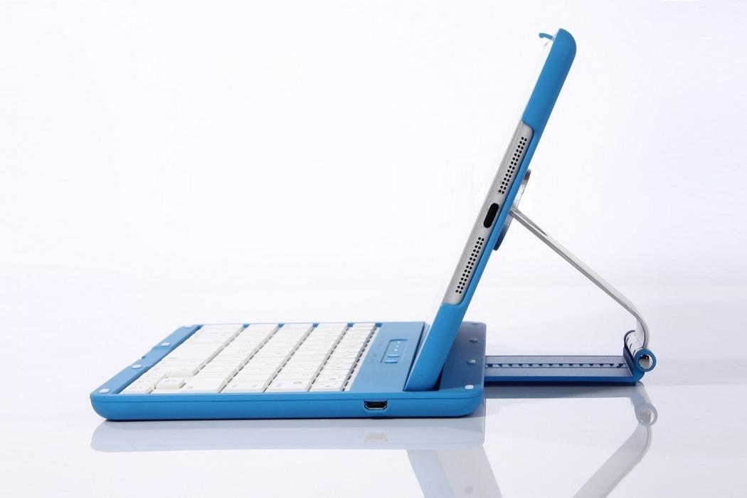 Aluminum 360 Swivel iPad Stand Case Bluetooth Keyboard
