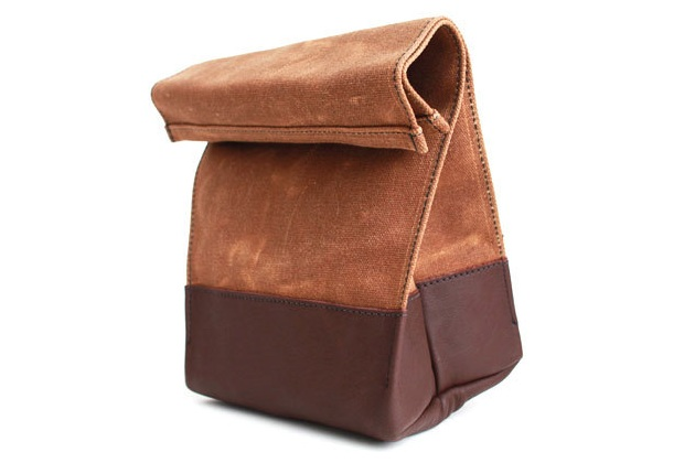 Waxed Canvas Leather Lunch Bag