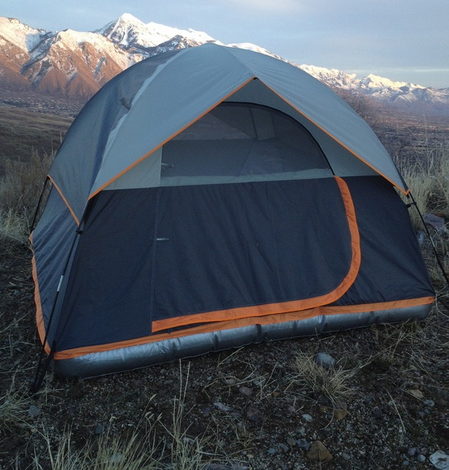 Worlds First Tent With a Patent-Pending Inflatable Base