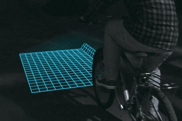 Lumigrids An LED Projector That Guides On Rough Road