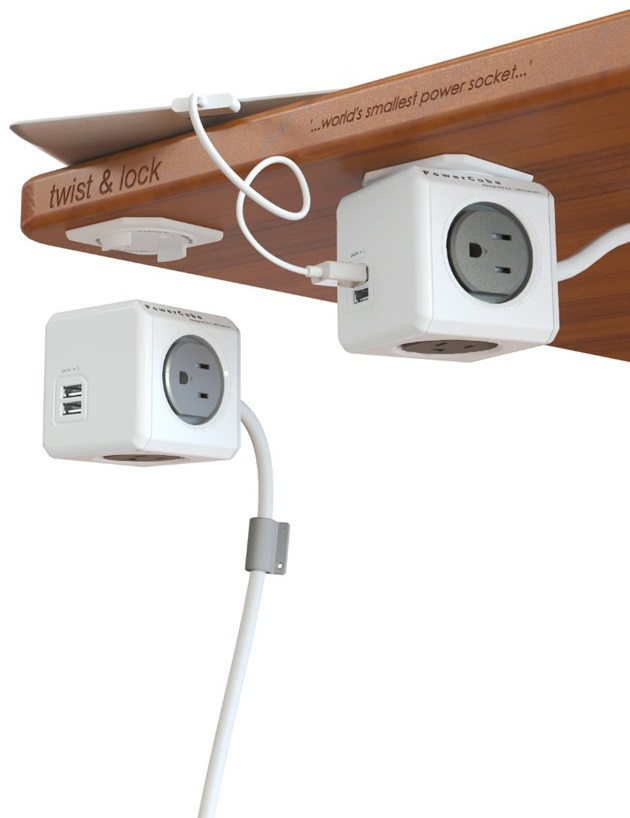 PowerCube Extended USB and Electric Outlet Adapter (4)
