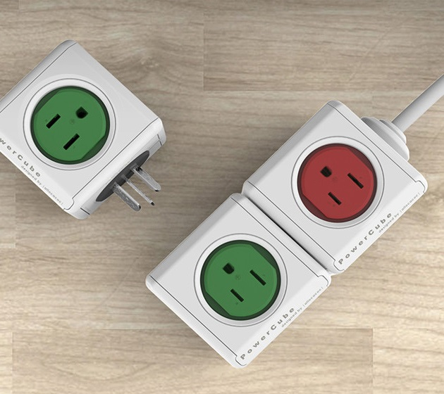 PowerCube Extended USB and Electric Outlet Adapter (3)