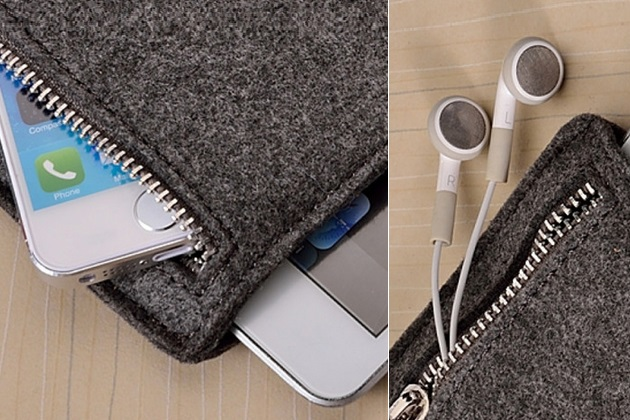 Grey Felt iPad Sleeve