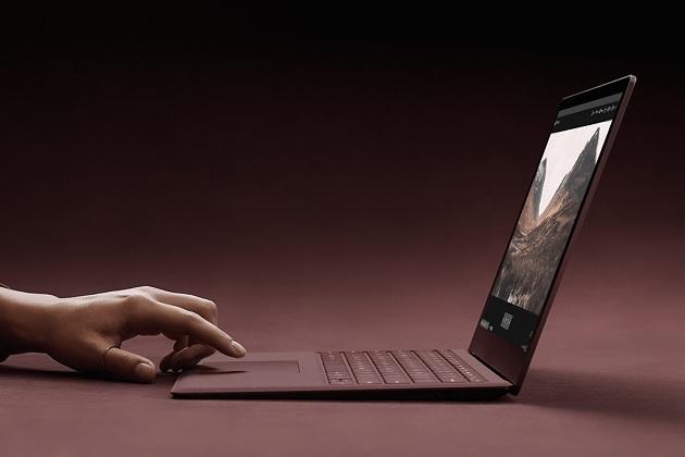 surface laptop burgandy Side view bonjourlife