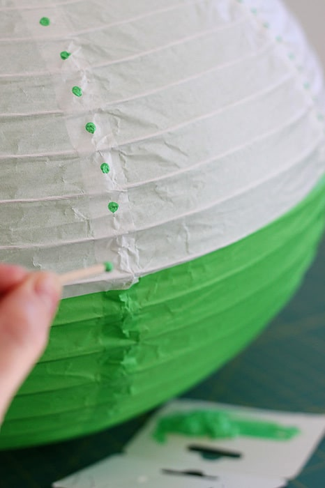 Rice paper lantern makeover - a paper tutorial by Kirsty at Bonjour Quilts