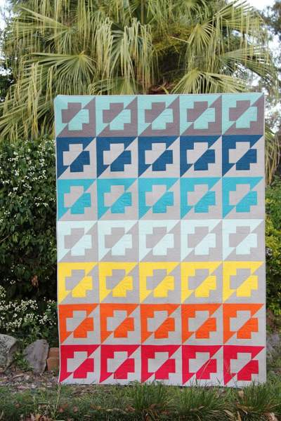 The Plus Side - a quilt pattern by Bonjour Quilts