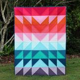 Colour Explosion Quilt - a colourful and easy quilt tutorial, perfect for beginners, by Bonjour Quilts