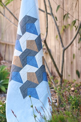 Deco Diamonds quilt by Bonjour Quilts in Carolyn Friedlander's Euclid fabric