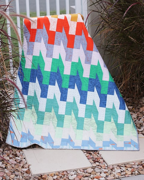 Slip Stitch modern quilt pattern by Bonjour Quilts