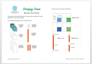 Scrappy Cross Block PDF download