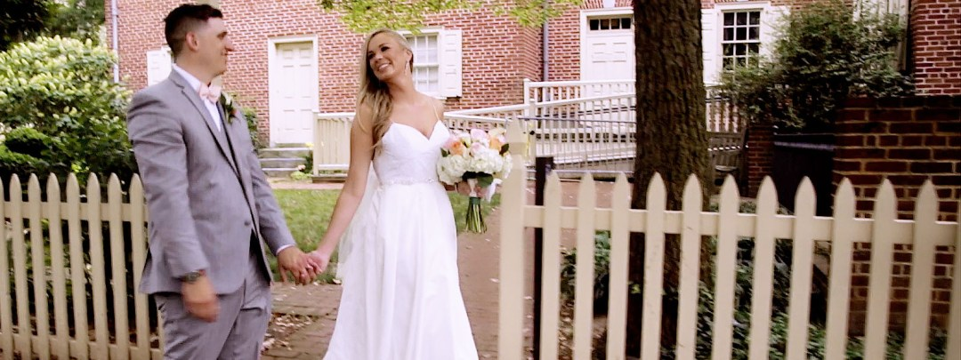 Lauren and Brian's wedding ceremony at St. John the Baptist in Manayunk - videography by Bonnie Blink Wedding FIlms