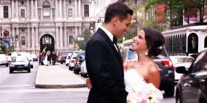 Ilene and Brian on Broad Street near City Hall in Philadelphia PA