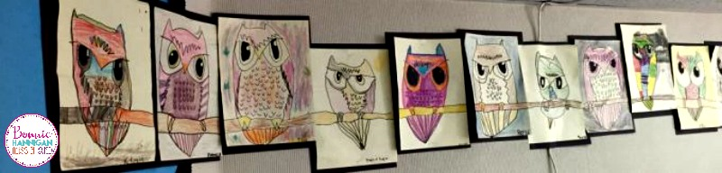 Owl Direct Drawings by Students
