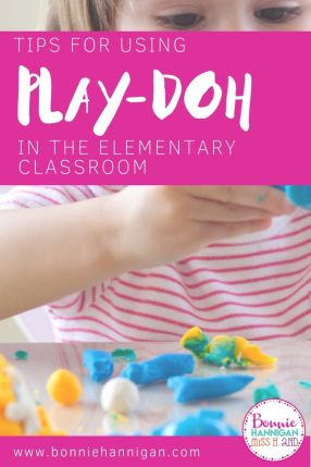 Using Play-doh in the elementary classroom