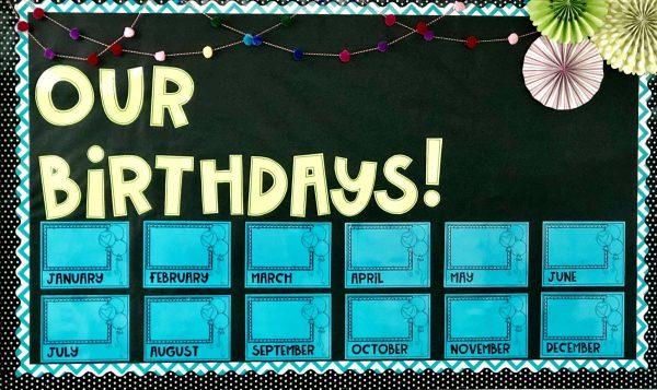 Birthday Bulletin Board Example