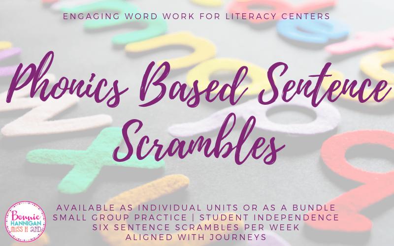 Phonics Based Sentence Scrambles