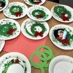 wreaths painted and drying