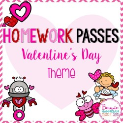 8x8 Valentines Day Homework Passes Cover