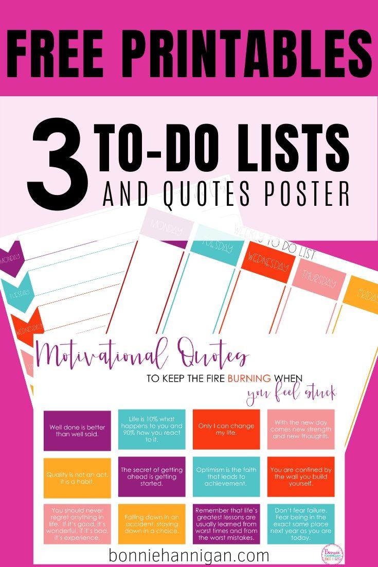Free Printables To-Do Lists