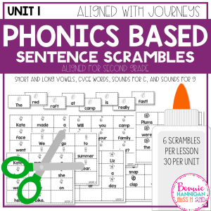 Sentence Scrambles Phonics Based Unit 1
