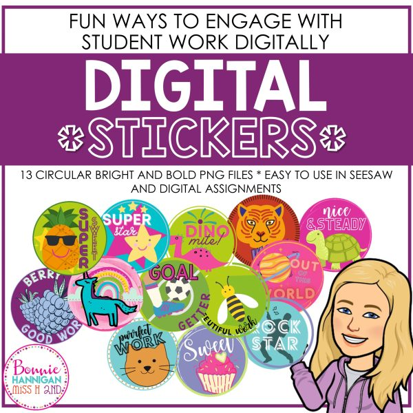 Bright and Bold Digital Stickers