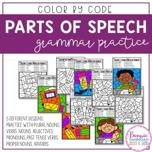 Color by Code Parts of Speech