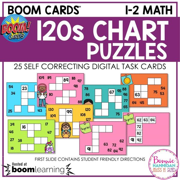120s Chart Puzzle Boom Cards