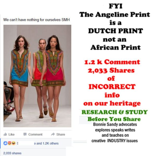 Angelina is not  the Dashiki nor is it an African Print