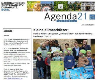 Stadt Bonn – Agenda 21 Aktuell – Januar/Februar-Ausgabe 2017/2018