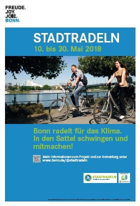 Die Stadt Bonn nimmt vom 10. – 30. Mai 2018 zum siebten Mal an der Aktion STADTRADELN teil.