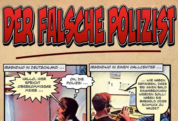 Falsche Polizisten rufen weiter in Bonn an Kostenloser Comic zeigt Vorgehen der Telefonbetrüger