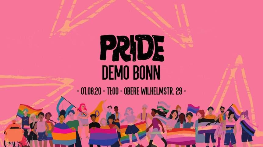 Pride Demo Bonn | ACHTUNG: Neuer Ort und neue Zeit!