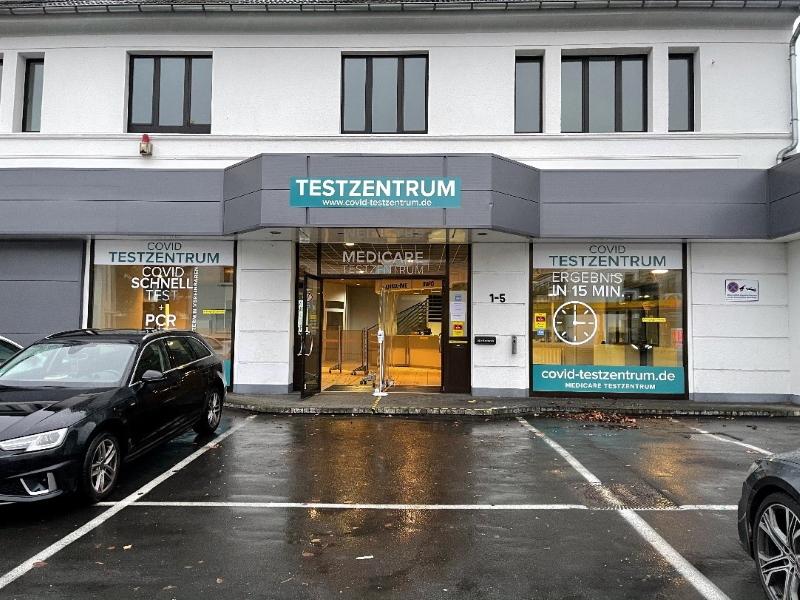 Das Siegburger Testzentrum an der Frankfurter Straße 1-5