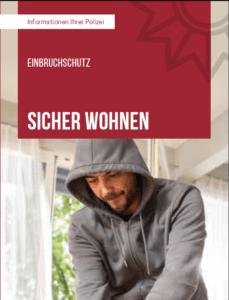 """Hinweis: Der Flyer """"SICHER WOHNEN"""" HIER herunterladen"""