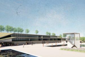 Das neue Funktionsgebäude des Melbbades. Foto: Bauwerkstadt Architekten Bonn