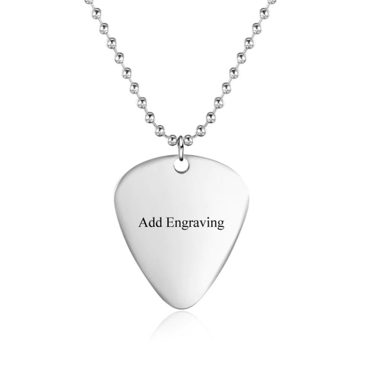 Guitar Paddle Necklace