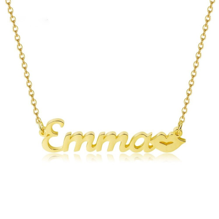Lips Name Necklace