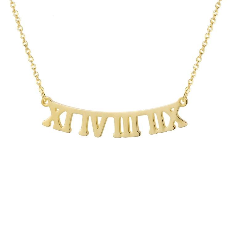 Roman Date Necklace
