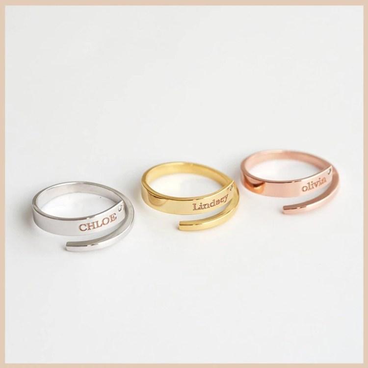 Engraved Adjustable Ring