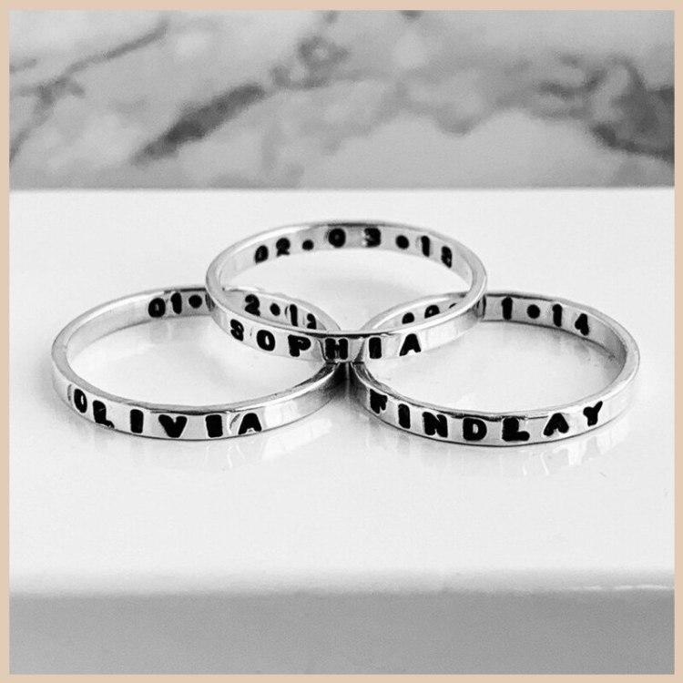 Black Name Ring