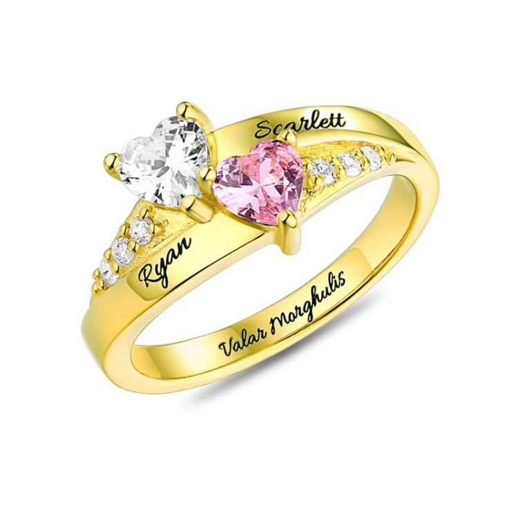 Couple Birthstone Ring