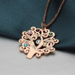 birthstone tree necklace