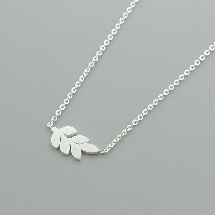 silver color cheap price leaf tree necklace nature lover friend gift idea for birthday graduation
